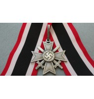 WW2 German Knights Cross of the War Merit Cross with Swords - in Silver