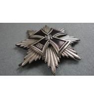 WW2 German Breast Big Star with Iron Cross - Silver