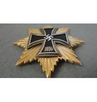 WW2 German Breast Big Star with Iron Cross - Gold