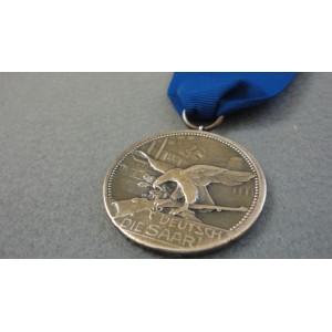 WW2 German Medal-DEUTSCH DIE SAAR 1935