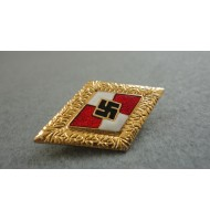 WW2 German Nazi HJ Honor-Pin Badge-Gold
