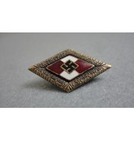 WW2 German Nazi HJ Honor-Pin Badge-Bronze