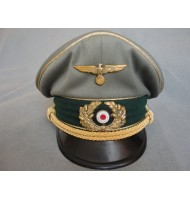 WW2 German WH General Visor Cap