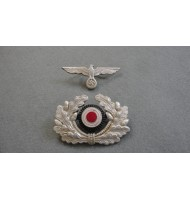 WW 2 German WH Officer Visor Cap-Metal