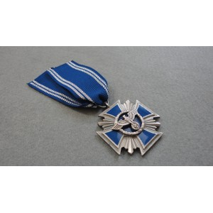 WW2 German Cross NSDAP 15 Years Long Service Award-Blue