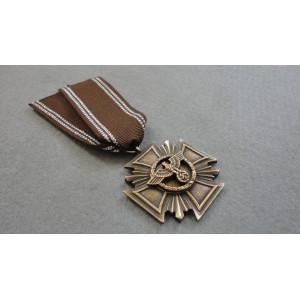 WW2 German Cross NSDAP 10 Years Long Service Award-Bronze
