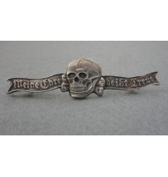 WW2 German Skull Badge - ( Mine Honor is True Jewelry )
