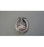 WW2 Kriegsmarine High Seas Fleet Badge - in Silver