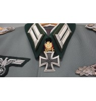 WW2 German Nazi Knights Cross of the Iron Cross - Oak Leaves with Swords in Gold - Superior