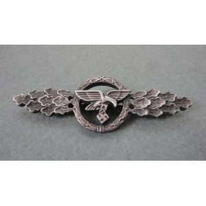 WW2 German Luftwaffe Transport Glider Squadron Clasp - in Silver