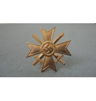 WW2 German War Merit Cross with Swords - Gold